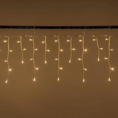 Tenda luminosa 200 lampadine led bianco caldo H 11 x L 600 cm