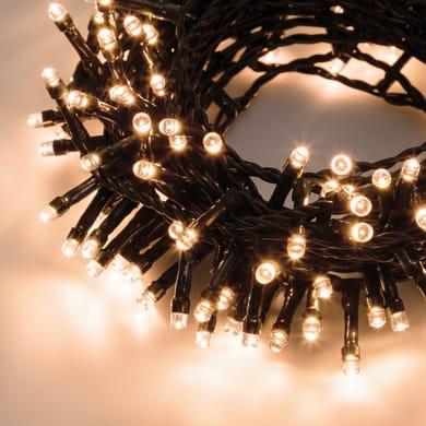 Catena luminosa 600 lampadine LED bianco caldo 24.5 m