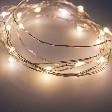 Catena luminosa 120 lampadine LED bianco caldo 11.9 m