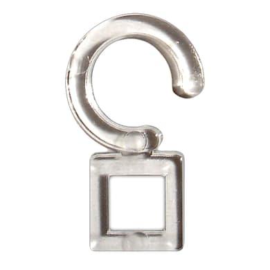 Gancio Ø35mm in plastica trasparente chiaro INSPIRE, 12 pezzi
