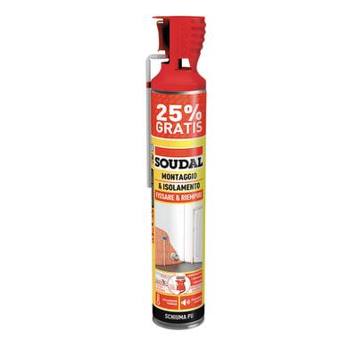 Schiuma poliuretanica SOUDAL   giallo per porta 600+150  ml