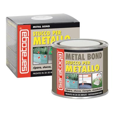 Stucco di riparazione metallo SARATOGA Fiber Bond per vetroresina 125 ml