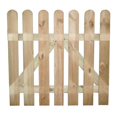 Recinzione dritta in legno L 100 x H 100 x P 3 cm