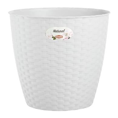 Portavaso Natural STEFANPLAST in plastica colore Bianco H 22.2 cm, Ø 24 cm