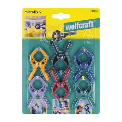 Set di morsetti a molla WOLFCRAFT 20 mm