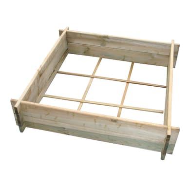 Fioriera per orto bassa in legno 10-58. verde L 90 x P 24 x H 24 cm