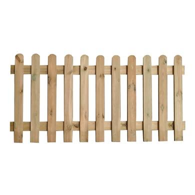 Recinzione 04-03-17Z10 in legno L 180 x H 100 x P 3 cm