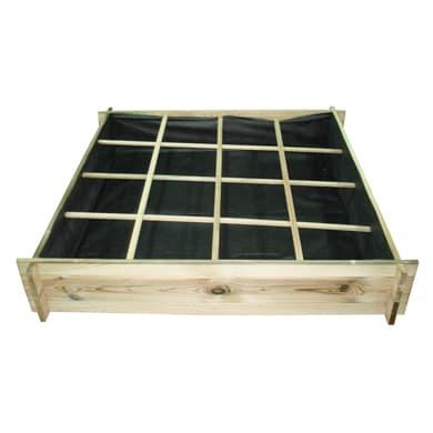 Fioriera per orto bassa in legno 10-57. verde L 120 x P 24 x H 24 cm