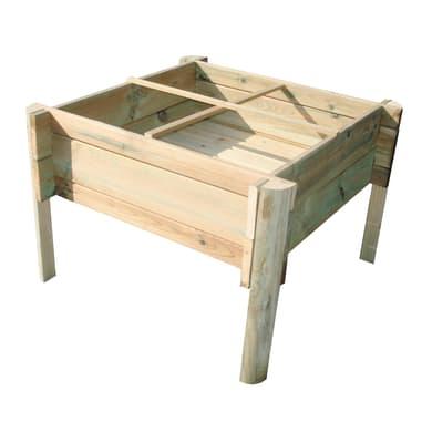 Fioriera per orto bassa in legno 10-60. verde L 60 x P 22 x H 50 cm