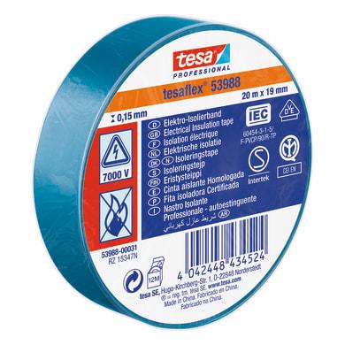 Nastro isolante TESA 539880003100 19 x 20000 mm x sp 19 mm blu