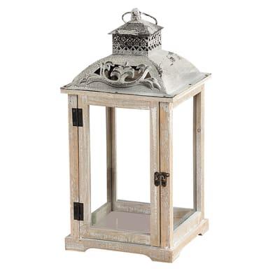 Lanterna portacandela bianco H 45 cm,L 23 cm Ø 23 cm