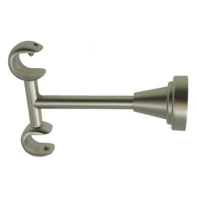 Supporto doppio aperto Ø16mm Stelvio in metallo acciaio satinato 9cm, 2 pz