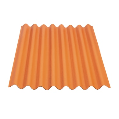 Lastra isolante ONDULINE Easyline in bitume 76 x 100 cm, Sp 2 mm terracotta