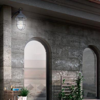 Applique per giardino Utsira in acciaio, nero, E27 MAX60W IP44 BRILLIANT