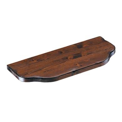 Mensola Arte povera L 76 x P 24 cm, Sp 2.4 cm noce