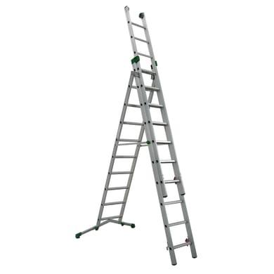 Scala a sfilo FACAL Super prima 3 rampe in alluminio 3x10 gradini per lavori fino a 5.1 m