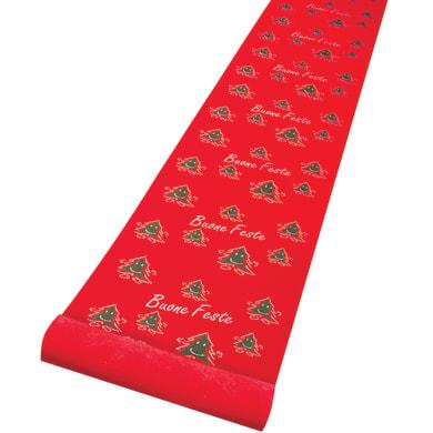 Runner decoro alberelli rosso L 1 m