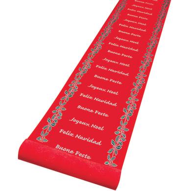 Runner decoro agrifoglio rosso L 1 m