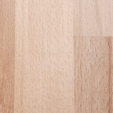 Piano cucina in legno faggio P 63 cm, spessore 2.8 cm