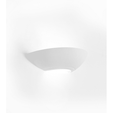 Applique design Patrae bianco, in vetro, SFORZIN