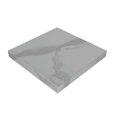 Piano cucina in laminato bianco L 304 x P 63 cm, spessore 3.8 cm