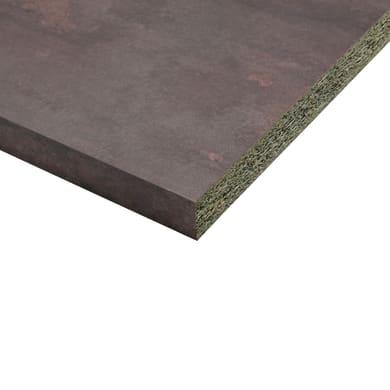 Piano di lavoro in laminato cuivre L 304 x P 63 cm, spessore 3.8 cm