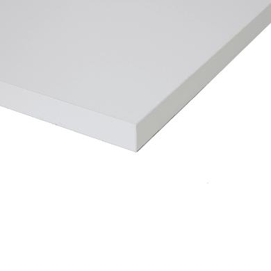 Piano cucina su misura in truciolare Luna bianco , spessore 4 cm