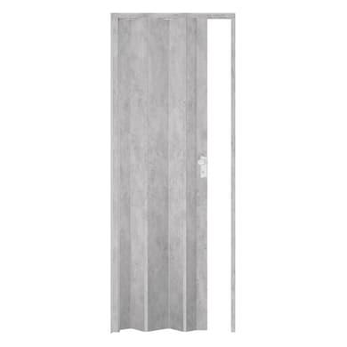 Porta a soffietto Maya in pvc grigio / argento L 83 x H 214 cm