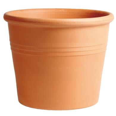 Vaso Cilindro rigato in terracotta colore cotto H 31 cm, Ø 38 cm