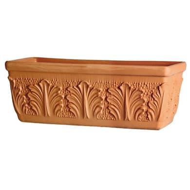 Fioriera Roma in terracotta colore cotto H 16 cm, L 30 x P 15.2 cm