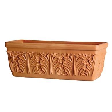 Fioriera Roma in terracotta H 25 cm, L 62 x P 25 cm Ø 60 cm