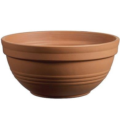 Ciotola in terracotta colore cotto H 14 cm, Ø 31 cm