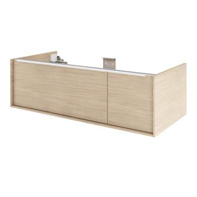 Mobile da bagno sotto lavabo L 105 x P 48 x H 32 cm in mdf noce