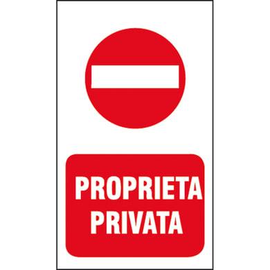 Cartello segnaletico Proprietà privata vinile 20 x 30 cm