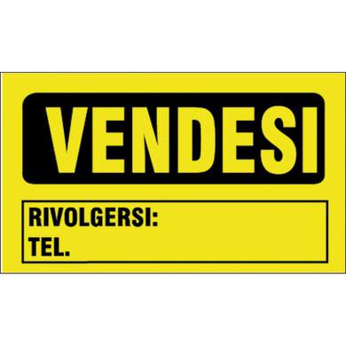 Cartello segnaletico Vendesi pvc 20 x 30 cm