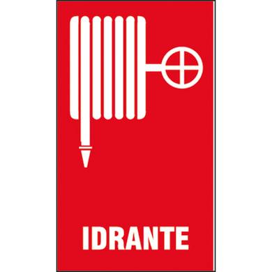 Cartello segnaletico Idrante pvc 20 x 30 cm
