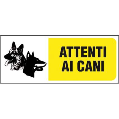 Cartello segnaletico Attenti al cane pvc 31 x 14 cm