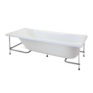 Vasca e pannello piatto Egeria 170 x 70 cm bianco 030
