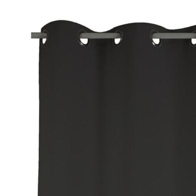 Tenda Attila nero occhielli 140 x 280 cm