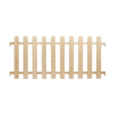 Kit balaustra Western in legno L 200 x H 89 cm noce