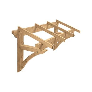 Tettoia Borgia in legno L 160 x P 80 cm struttura Legno