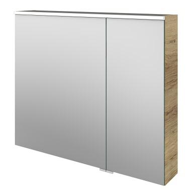 Specchio contenitore con illuminazione Neo L 90 x P 17 x H 75 cm marrone legno ed effetto legno Sensea