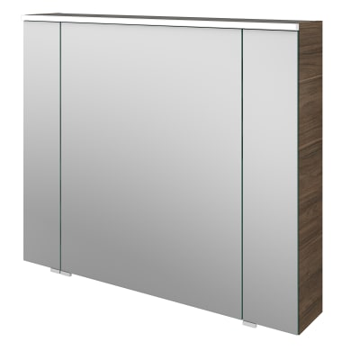 Specchio contenitore con illuminazione L 90 x P 17 x H 75 cm marrone legno ed effetto legno Sensea