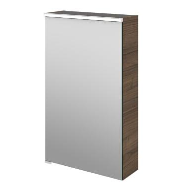 Specchio contenitore con illuminazione Neo L 45 x P 17 x H 75 cm marrone legno ed effetto legno Sensea