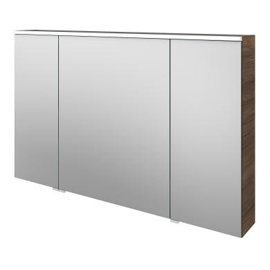 Specchio contenitore con illuminazione Neo L 120 x P 17 x H 75 cm marrone legno ed effetto legno Sensea