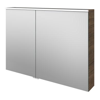 Specchio contenitore con illuminazione Neo L 105 x P 17 x H 75 cm marrone legno ed effetto legno Sensea