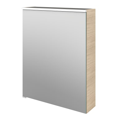 Specchio contenitore con illuminazione Neo L 60 x P 17 x H 75 cm marrone legno ed effetto legno Sensea