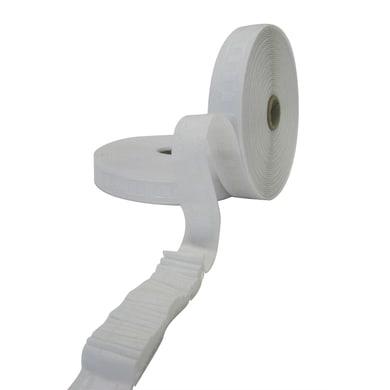 Nastro arricciatura automatica a pieghe continue bianco 2.6 cm x 50 m