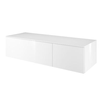 Mobile lavabo L 135 x P 48 x H 33 cm in mdf bianco