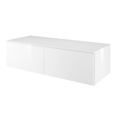 Mobile lavabo L 120 x P 48 x H 33 cm in mdf bianco